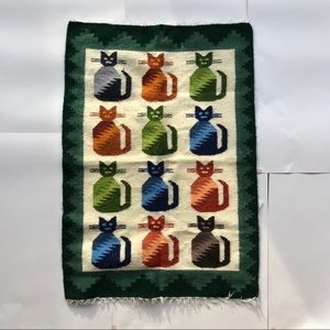 Other - Peruvian Handwoven Wool Cat Kitten Wall Hanging